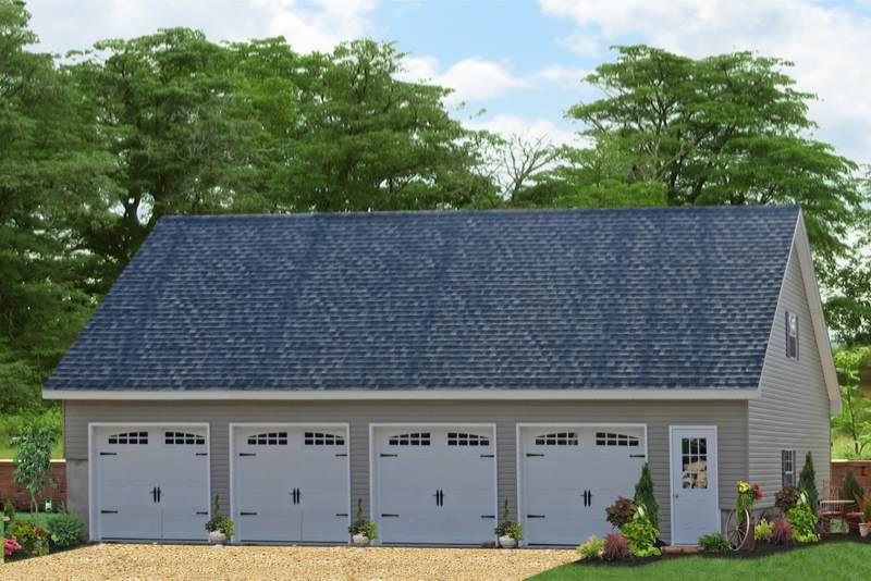 legacy four car garage 1
