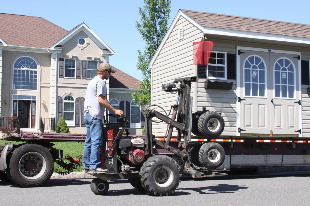 02 shed delivery without damaging my yard