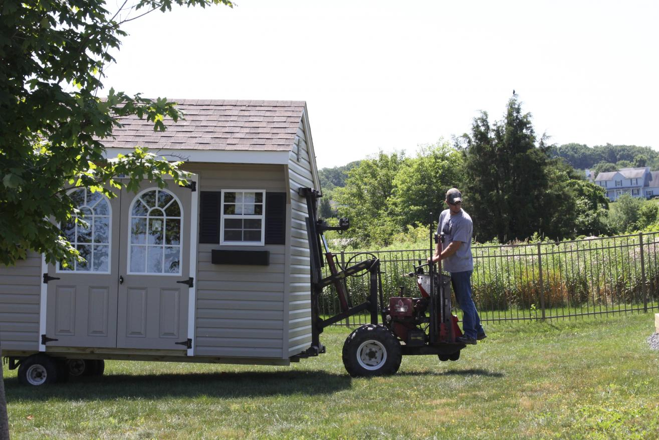 06 how to have a shed delivered with out damage