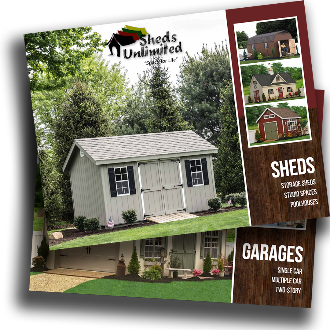 Prefab garage and shed catalogs available in PA, MD, NJ, NY, DE, VA, CT, and beyond