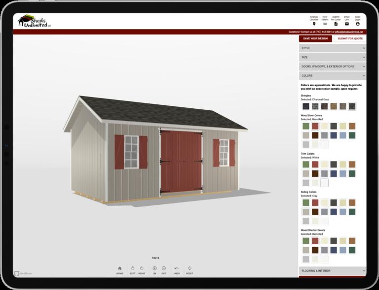 storage sheds 3d designer online