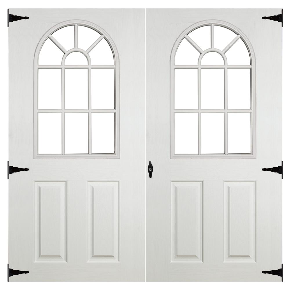 fiberglass 11 lite 6ft double doors for sheds garages