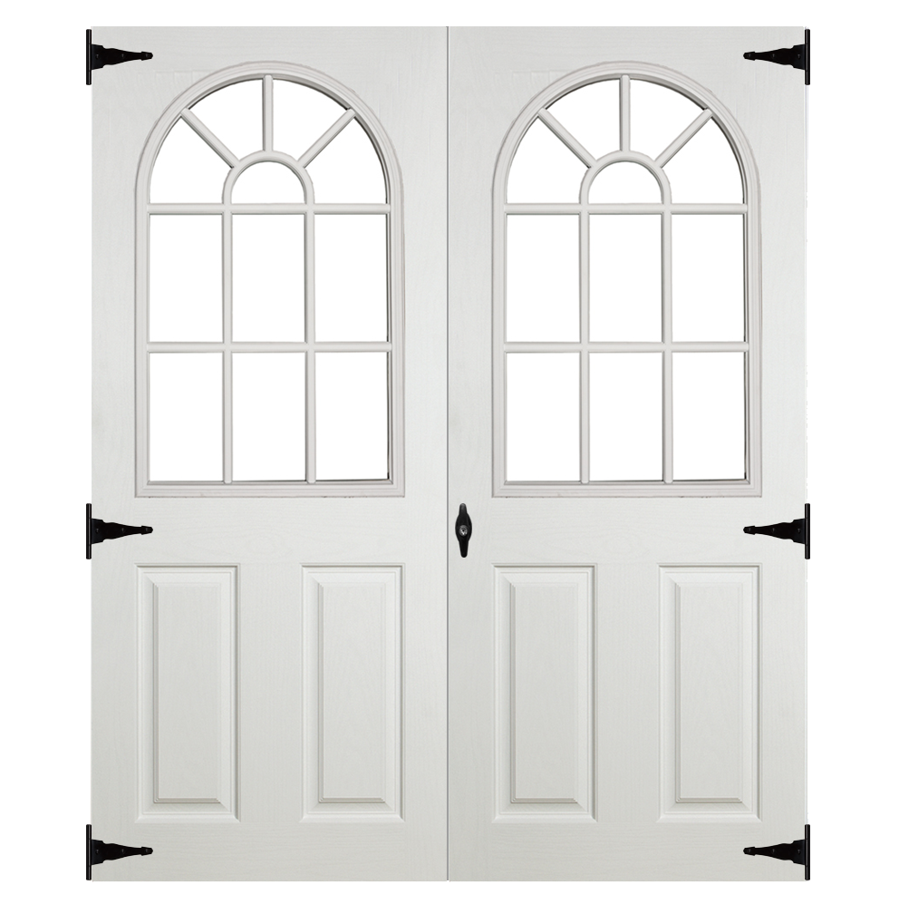 fiberglass 11 lite double doors 5ft for sheds garages