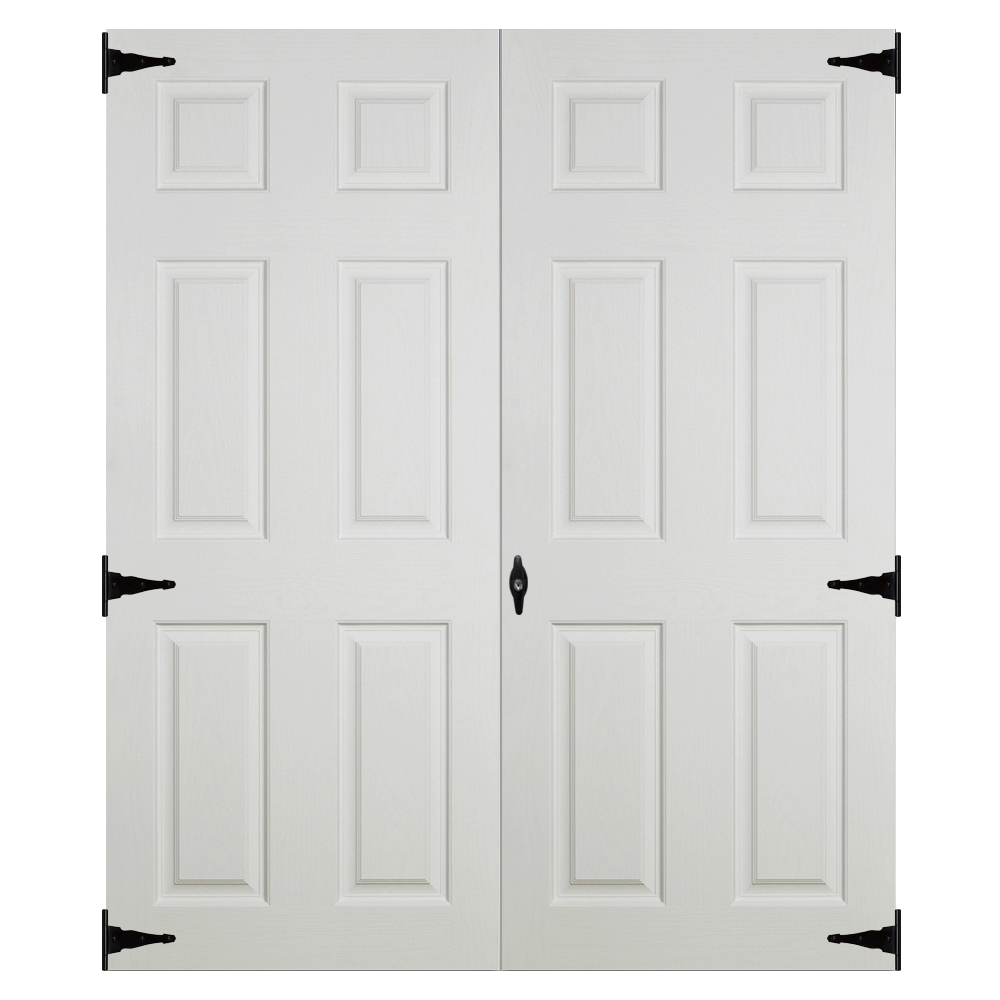 fiberglass slab 4ft 6in double doors for sheds and garages 1