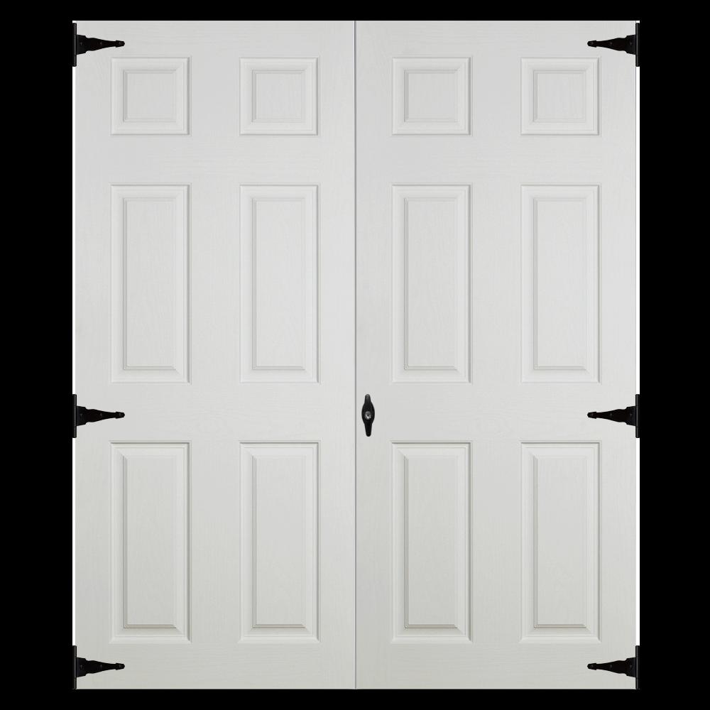 fiberglass slab 5ft double doors for sheds and garages
