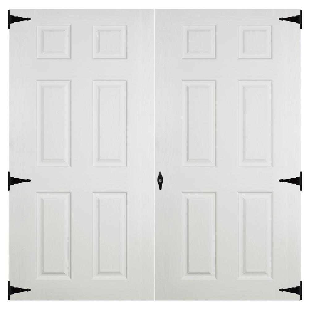 fiberglass slab 6ft double doors for sheds and garages