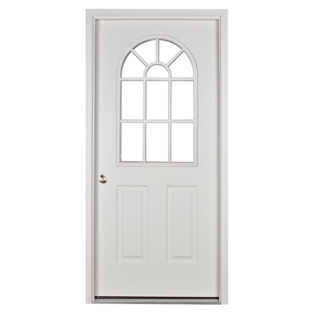 prehung 11 lite door for sheds and garages