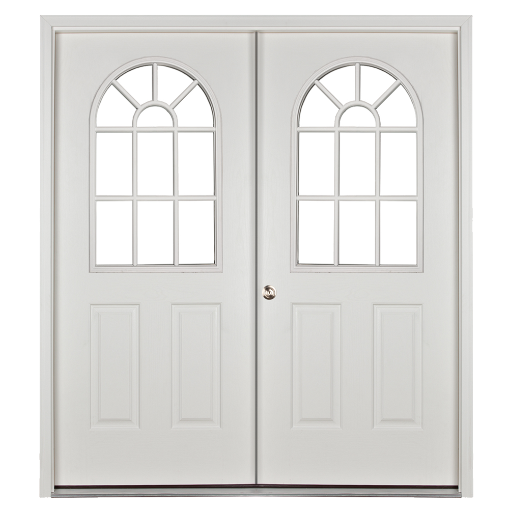 prehung 11 lite double door for sheds and garages