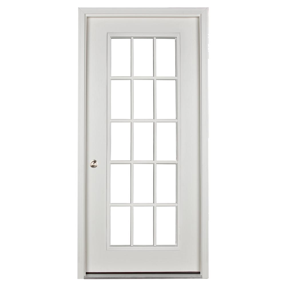prehung 15 lite door for sheds and garages