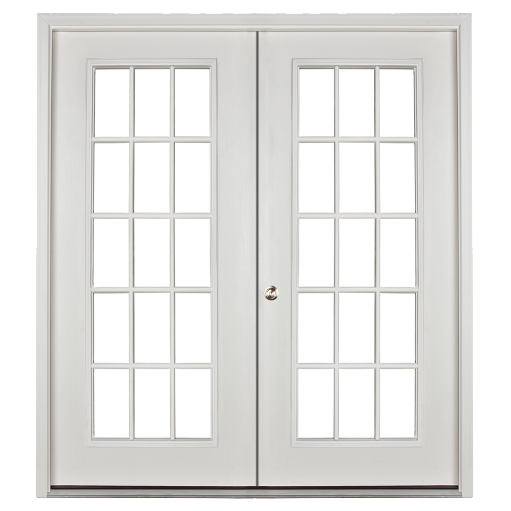 prehung 15 lite double door for sheds and garages