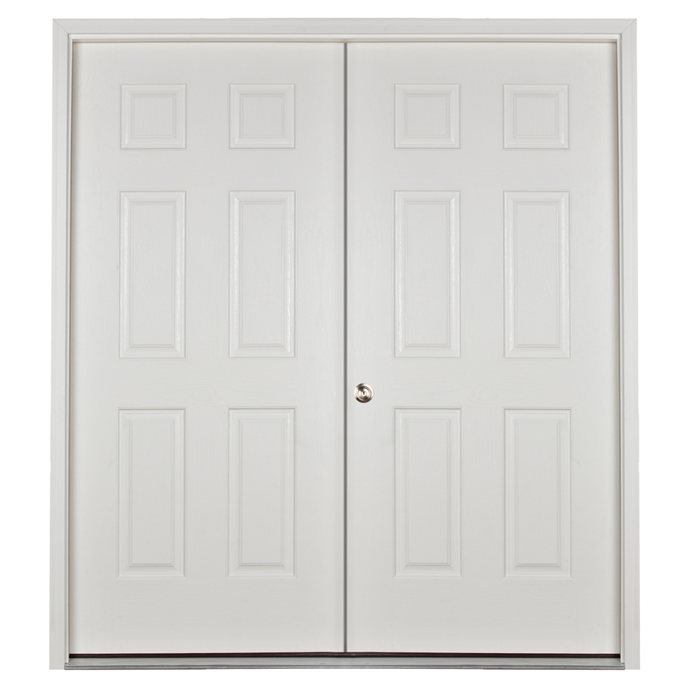 prehung 5ft double door for sheds and garages