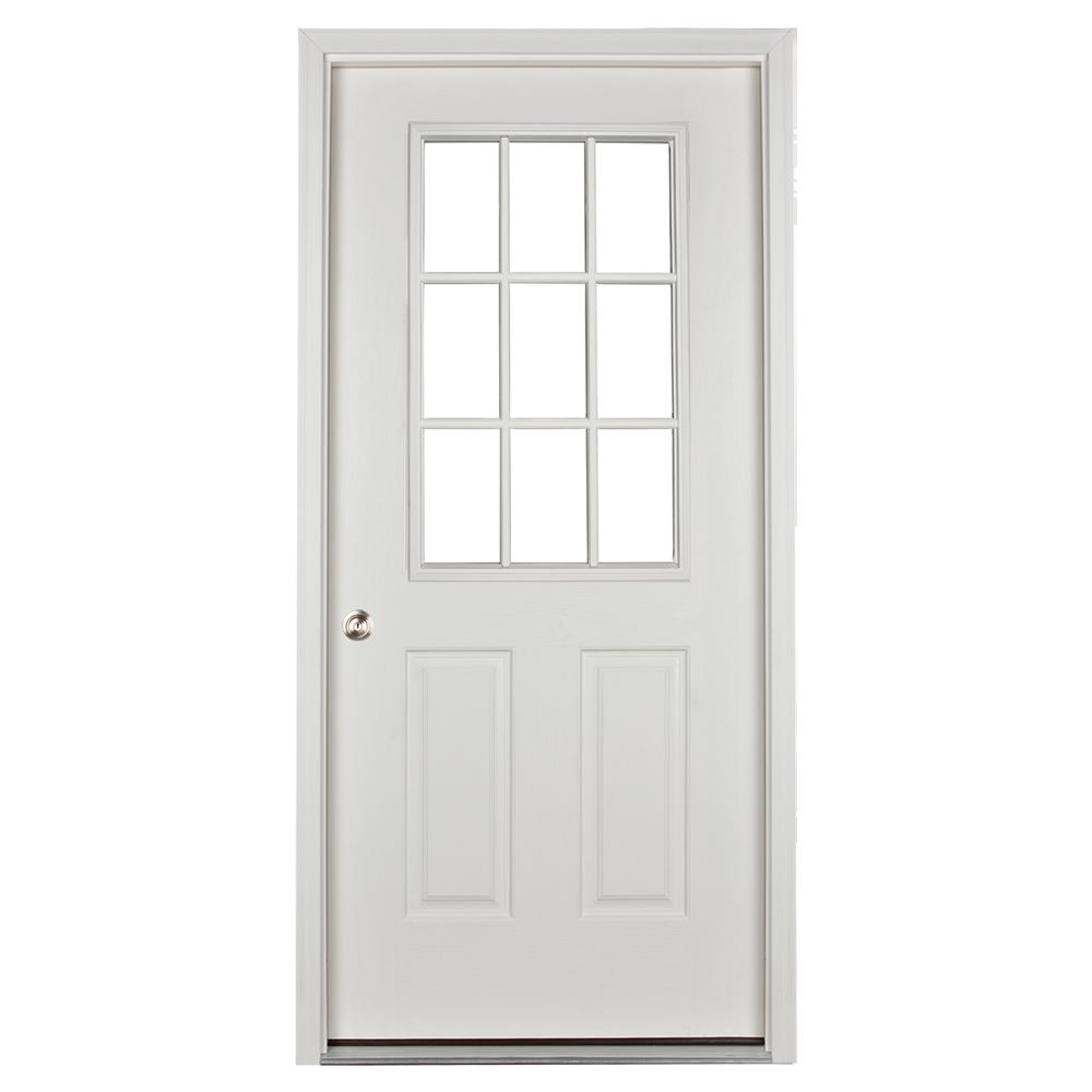 prehung 9 lite door for sheds and garages
