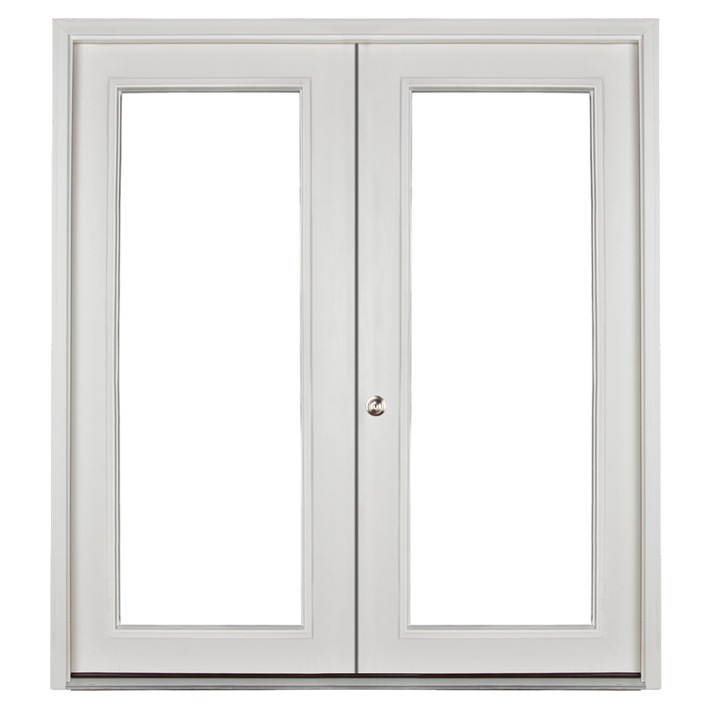 prehung full lite double door for sheds and garages