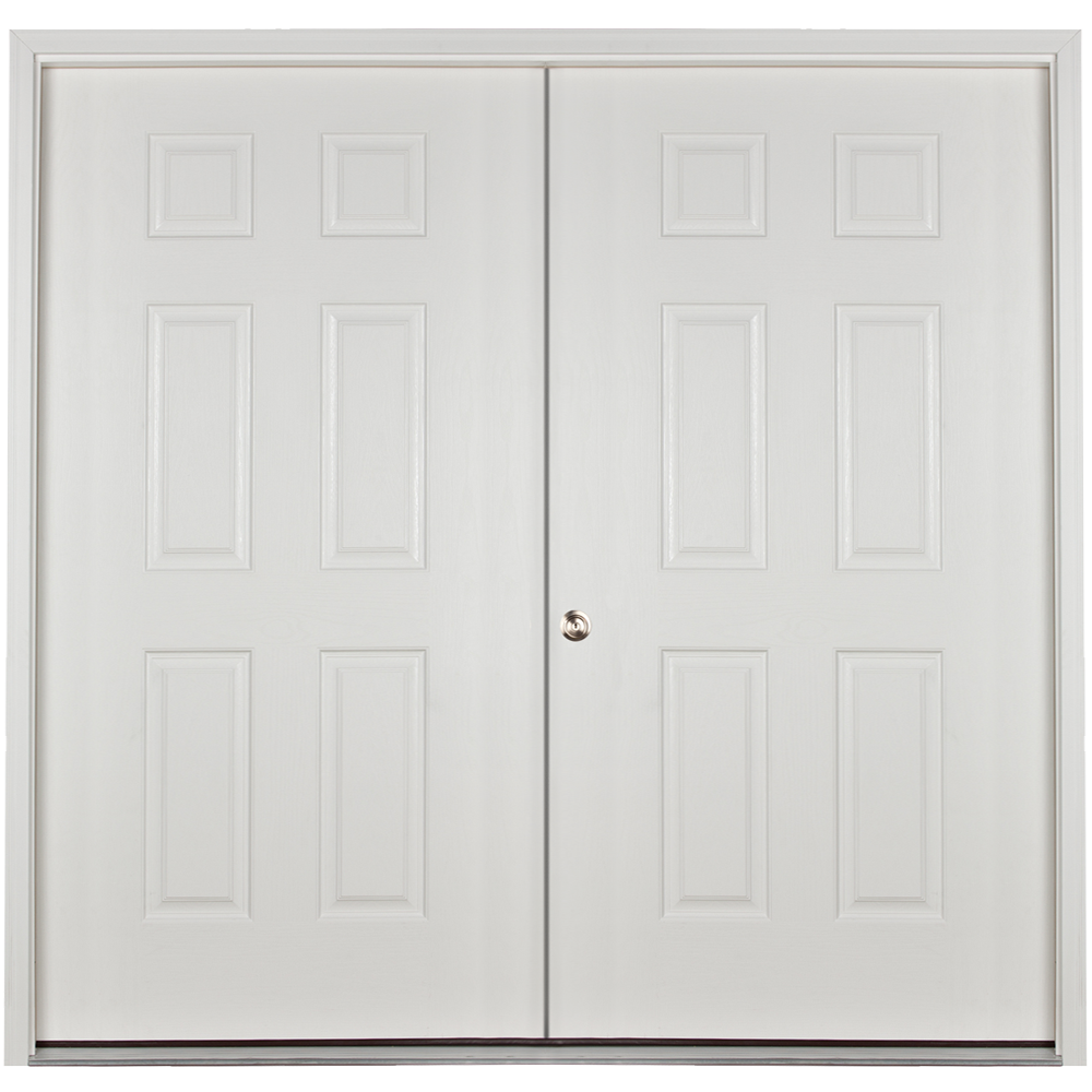 prehung solid 6ft double door for sheds and garages