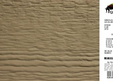 clay shed siding paint color code