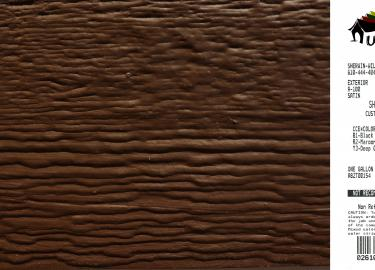 dark brown shed siding paint color code