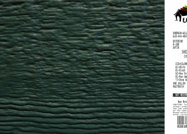 hunter green shed siding paint color code