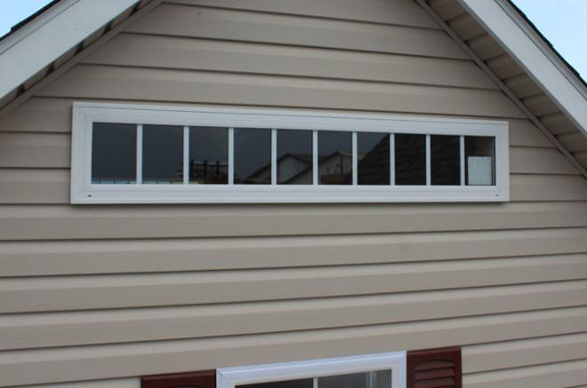 insulated transom window for sheds garages