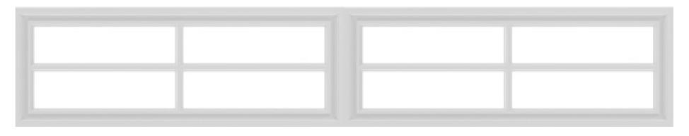 4 square garage window