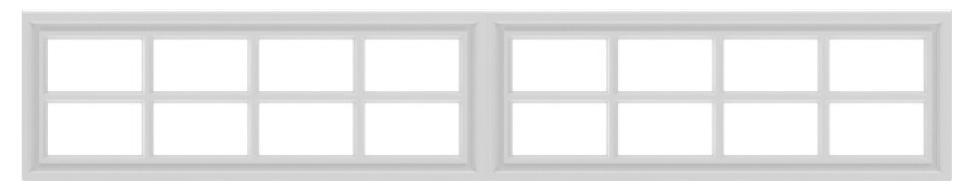 8 square garage window