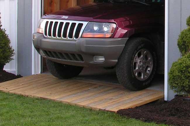 shed garage ramp heavy duty
