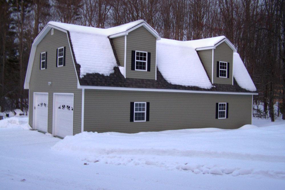 2 car garage with lift exterior