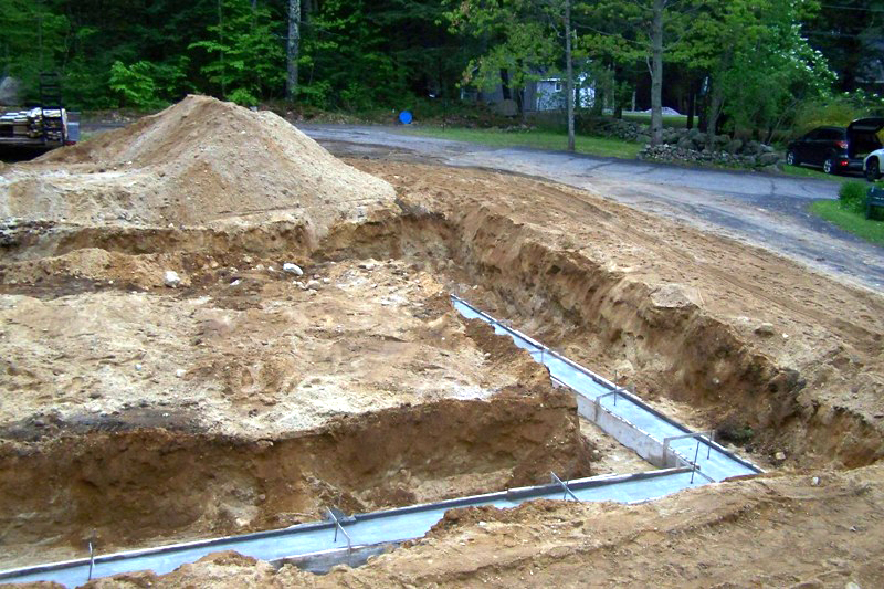 preparing 2 car garage with lift foundation
