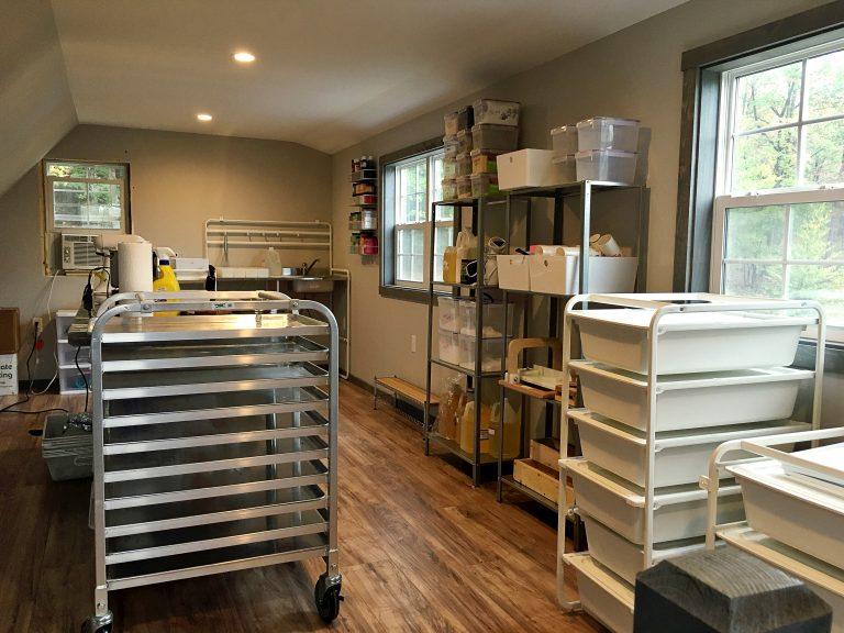 soap making studio shed