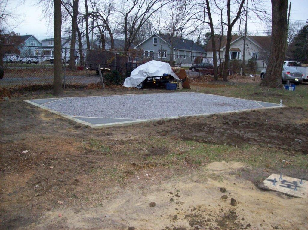 foundation for sheds and garages