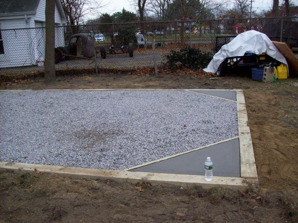 preparing fondation sheds and garages