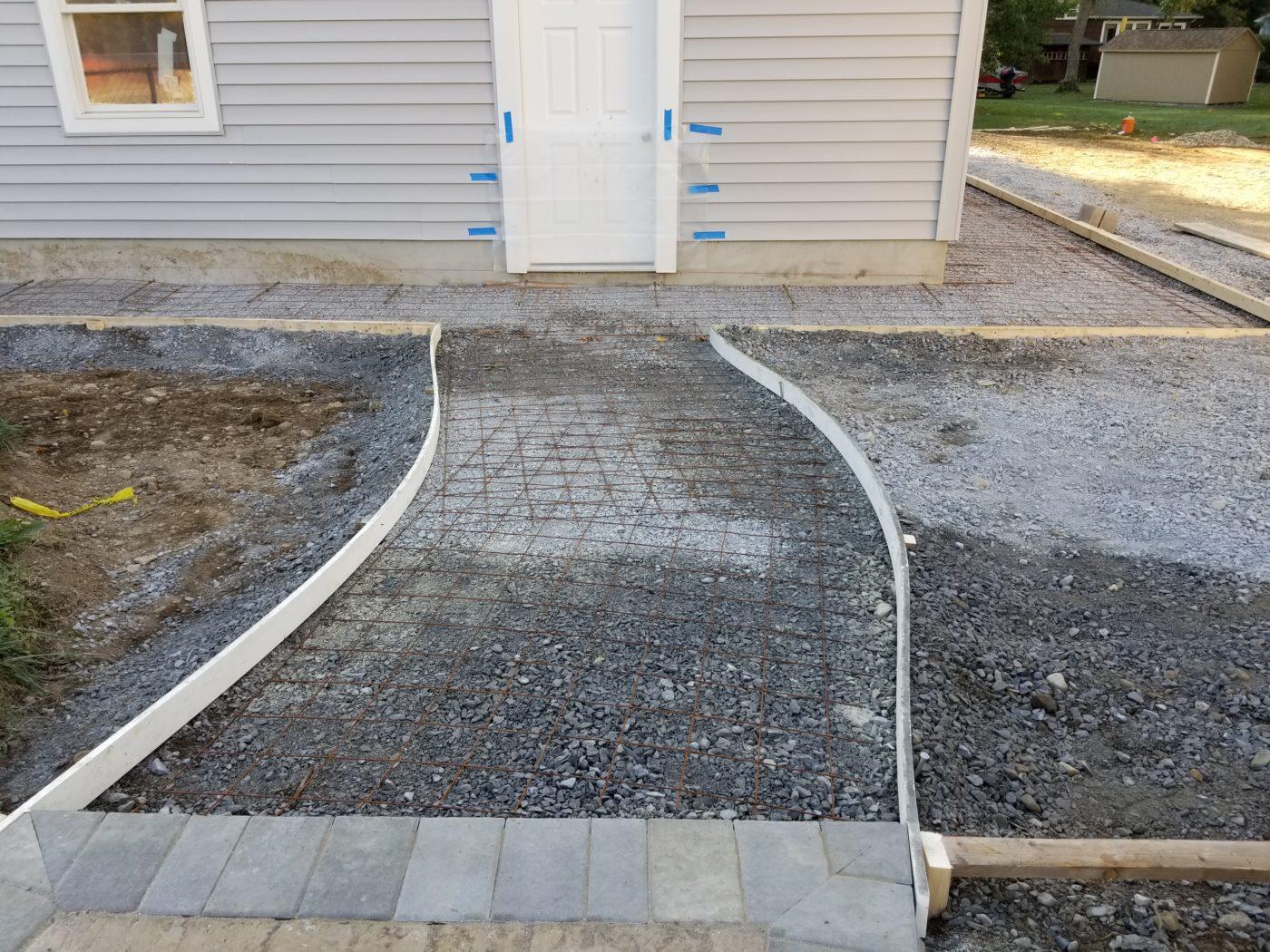 4 car garage walkway
