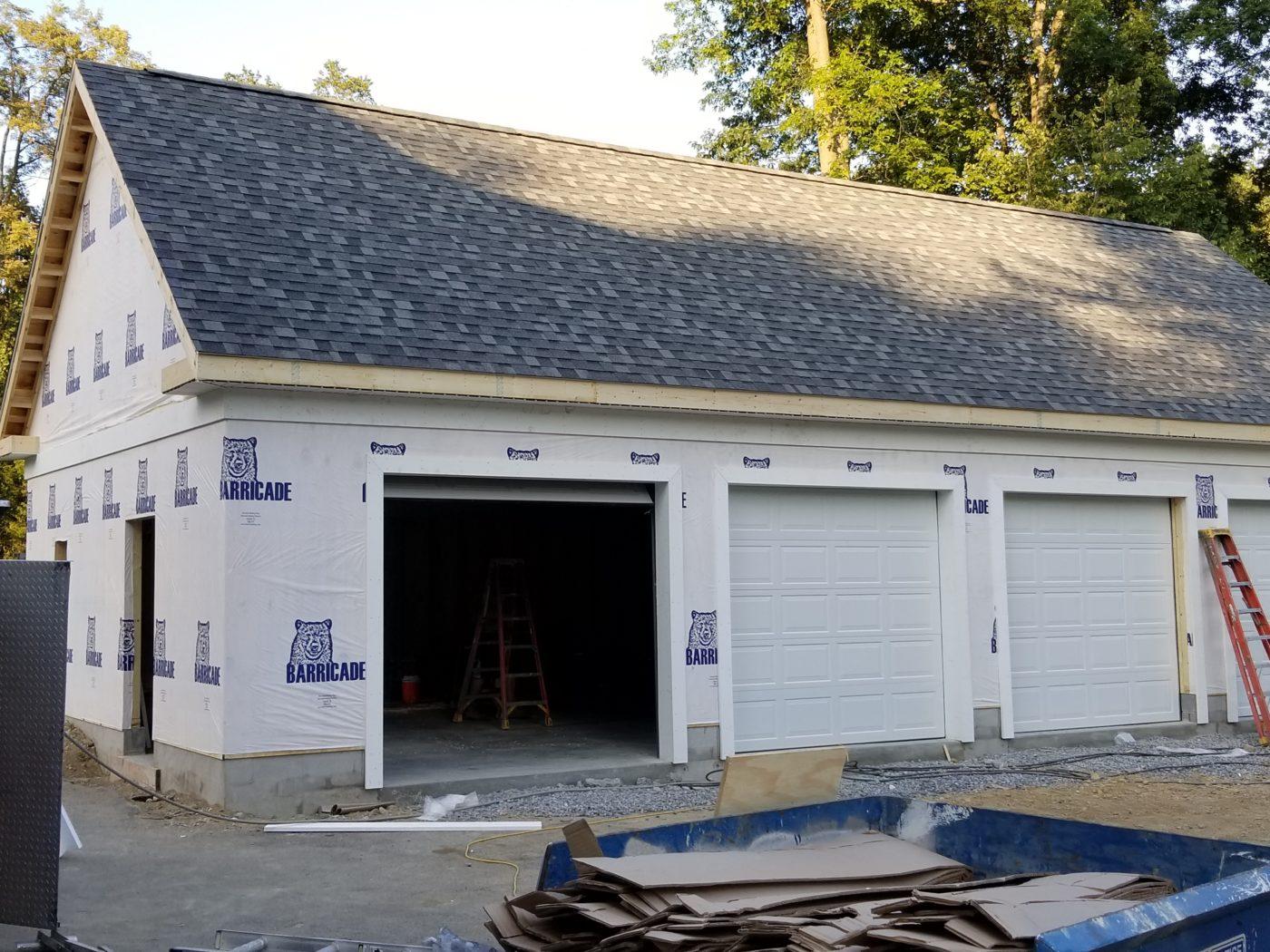 custom garage roofing