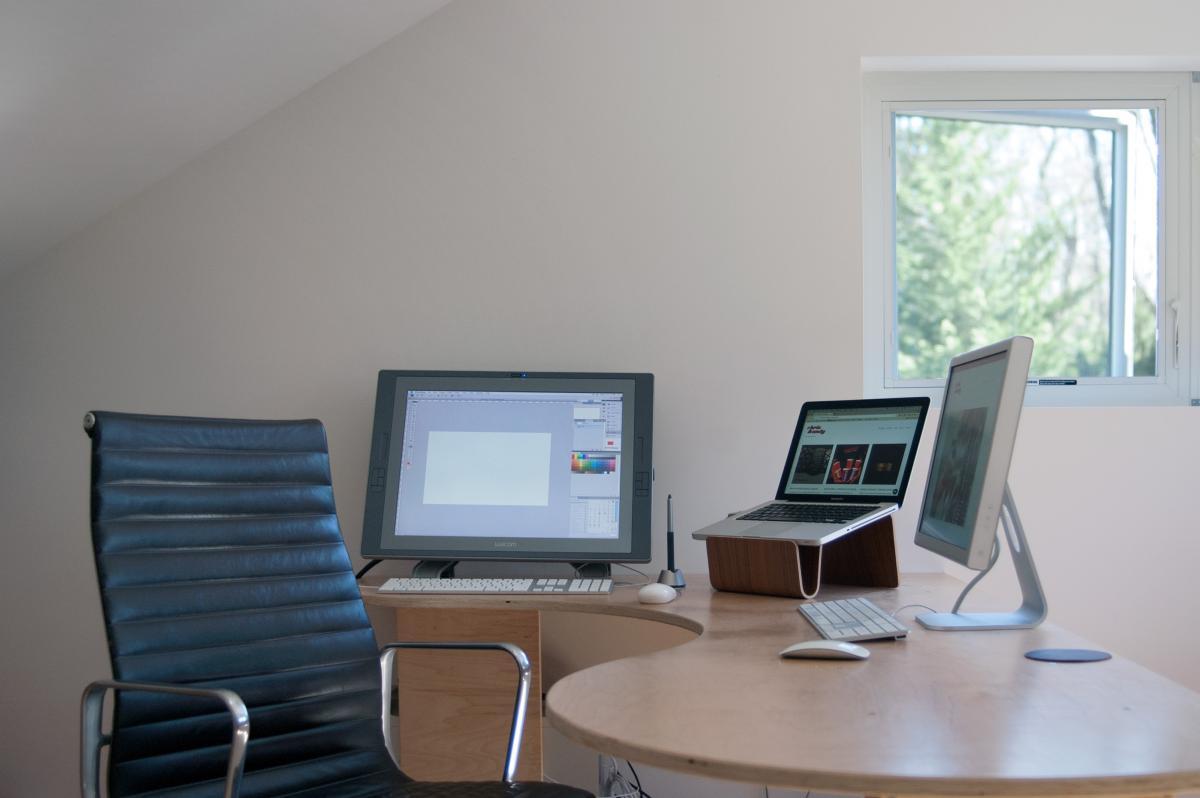 chris and andy studio 1 desk 0