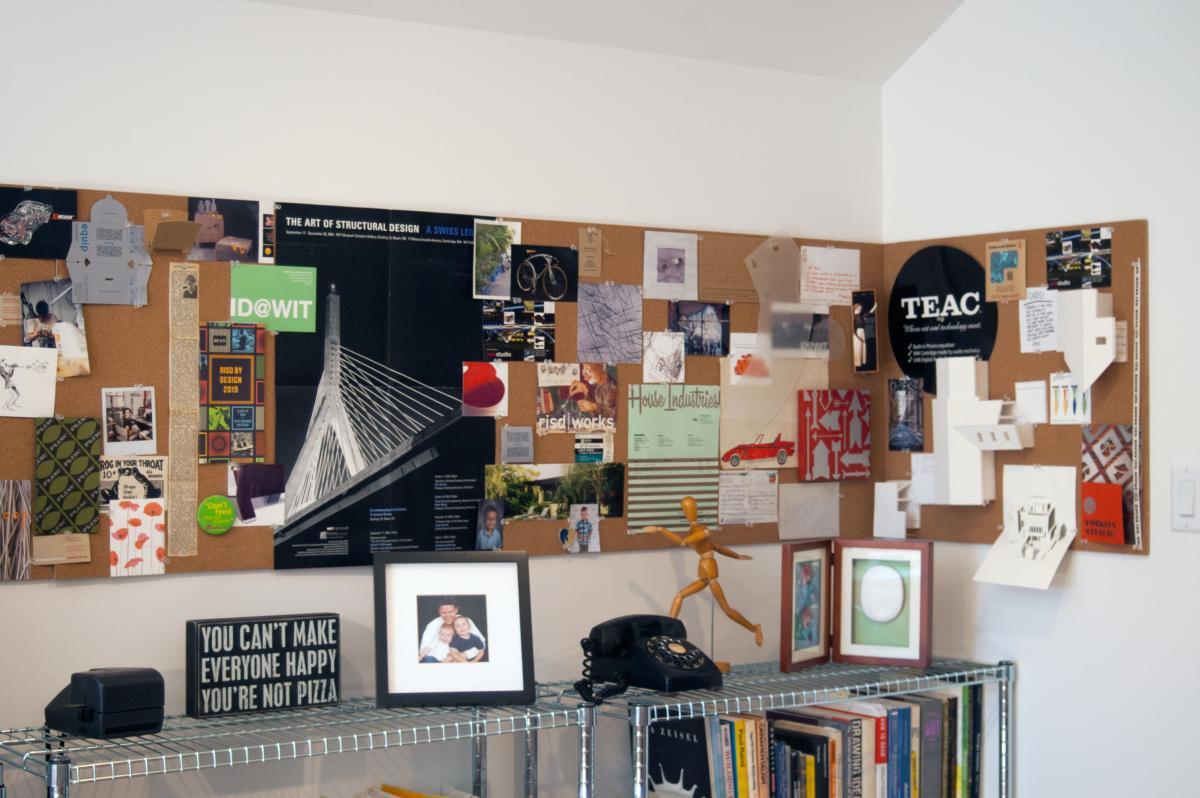 chris and andy studio 1 inspiration wall