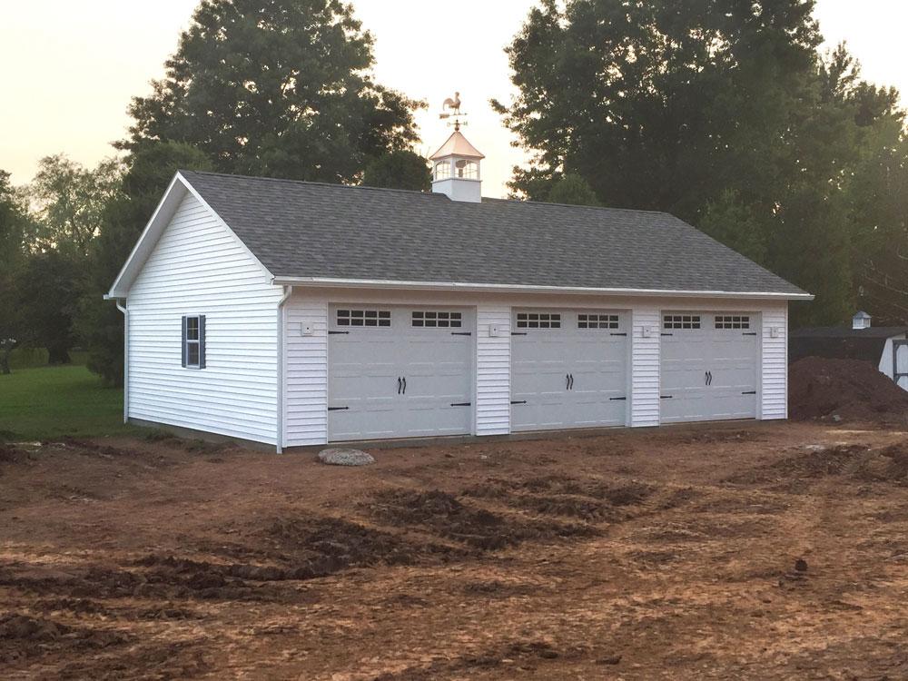 unfinished prefab 3 car garage for sale