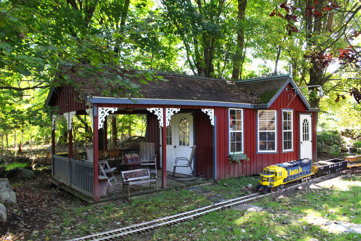 shed as a train depot