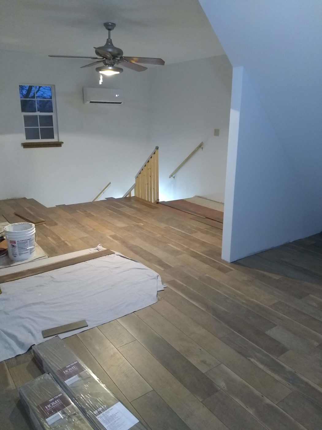 laminate floor on the garage
