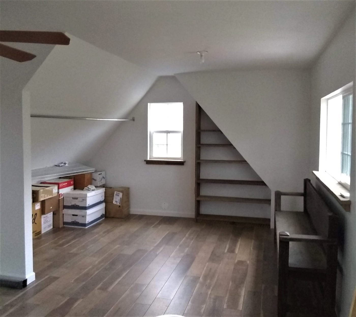 second floor of garage