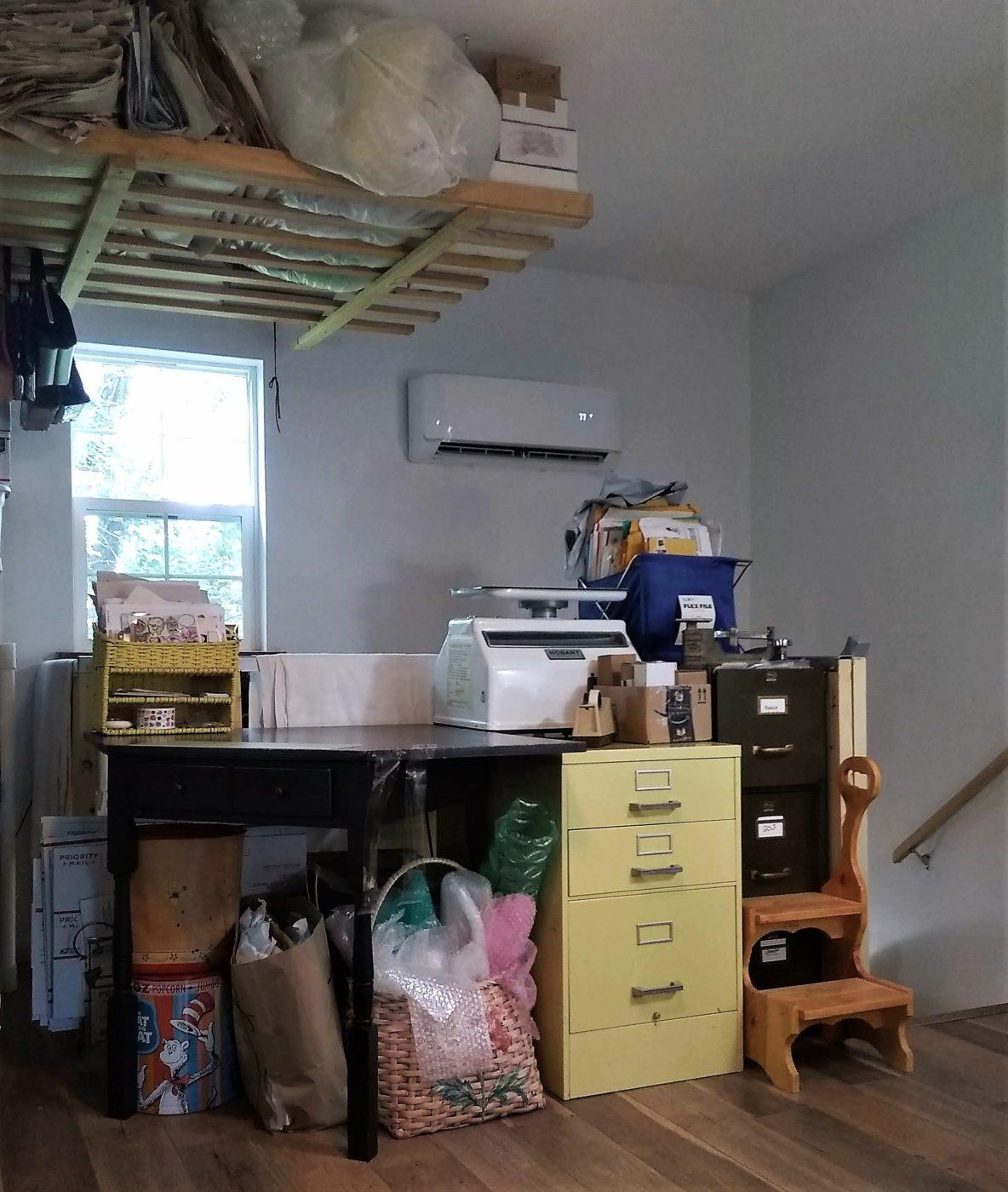 shipping station in prefab garage