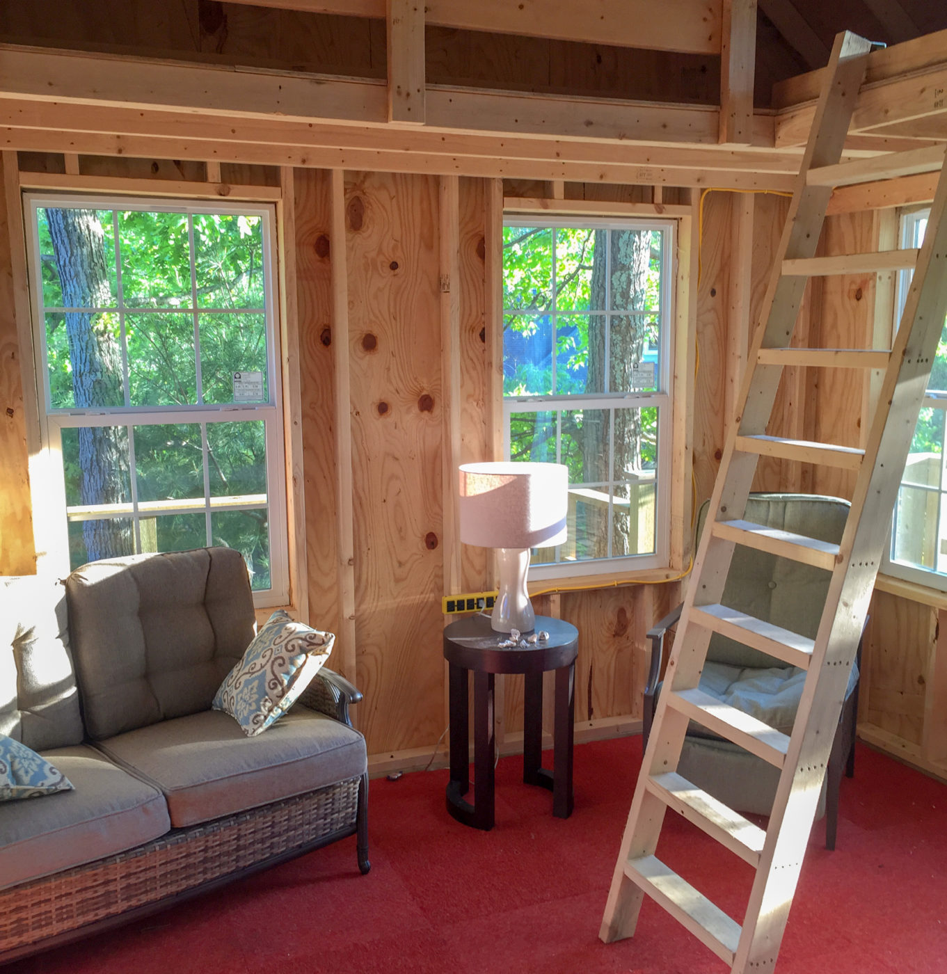 inside the treehouse shed for sale pa